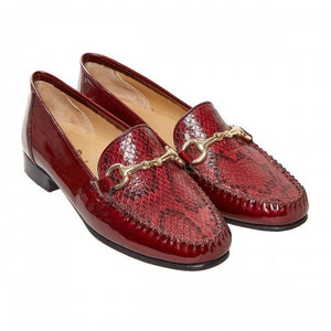 Van Dal Putnam Mulberry Patent Snake Loafers