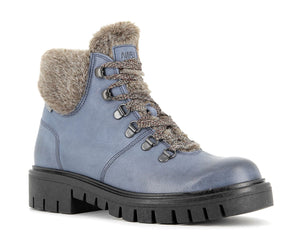 Alpina Amica 7L22-1 Light Blue Wool Lined Water Resistant Lace Up Walking Boots - elevate your sole
