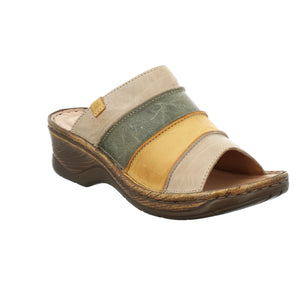 Josef Seibel Catalonia 64 Cream Yellow Ladies Leather Mules - elevate your sole