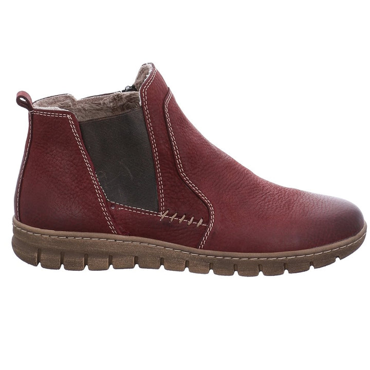 Josef Seibel Steffi 49 Bordo Red Nubuck Leather Boots - elevate your sole
