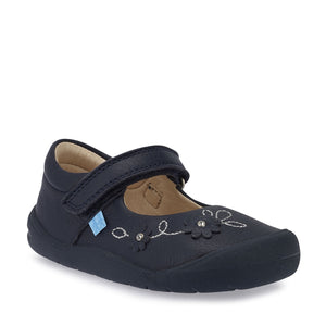 Start-Rite Flex 0758-9 Girls Navy Leather First Shoe