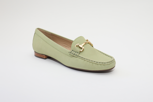 Elevate your Sole 25836 Sunflower Ladies Lime Nubuck Leather Loafers