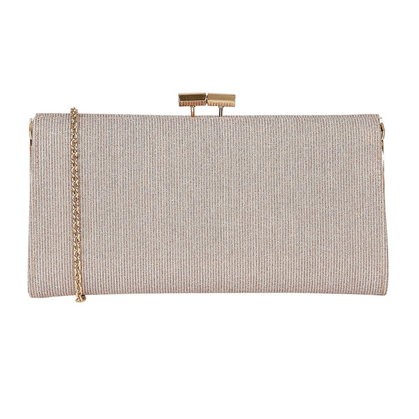 Lotus Chicory Pink Textile Clutch Bag