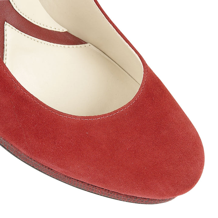 Naturalizer Lenny Venom Red Suede Shoes - elevate your sole