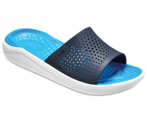 Crocs Literide Slide 205183- 462 Ladies Navy/Bright Blue Slider Sandal