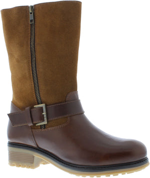 Adesso Jess A4555 Chestnut leather Mid Calf Boots - elevate your sole