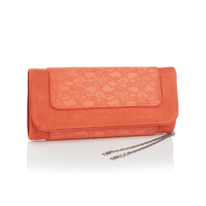 Ruby Shoo Tirana Ladies Russet Lace Clutch Bag
