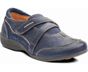Padders Maple Navy Leather Shoes E Fitting - elevate your sole