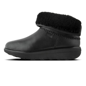 Fitflop l90-001 Mukluk Shorty 2 Ladies Black Leather Ankle Boots