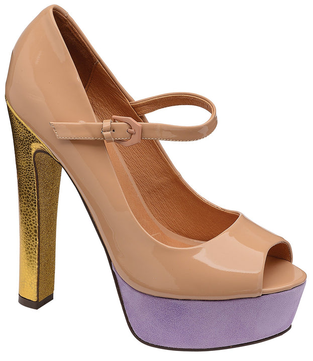 Ravel Lottie Nude Open Toe Platform Shoes - elevate your sole