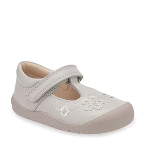 Start-Rite First Mia 0743-0 Girls Taupe Leather T-Bar First Shoe