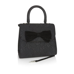 Ruby Shoo Trento Ladies Black Lace Handbag