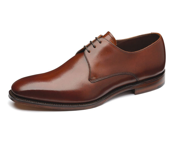 Loake Cornwall Calf Leather Brown Narrow Leather Dress Shoes