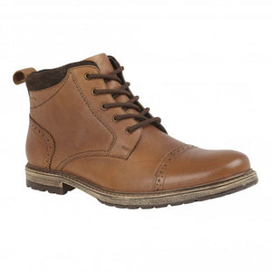 Lotus Baxter Mens Brown Tan  Leather Lace Up Ankle Boots - elevate your sole
