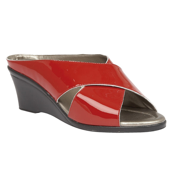Lotus Trino Red Patent Leather Sandals