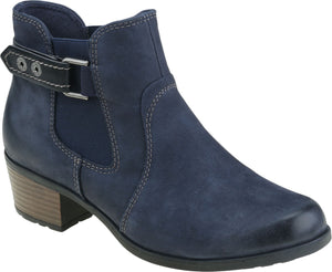 Earth Spirit El Reno Ladies Navy Leather Ankle Boots