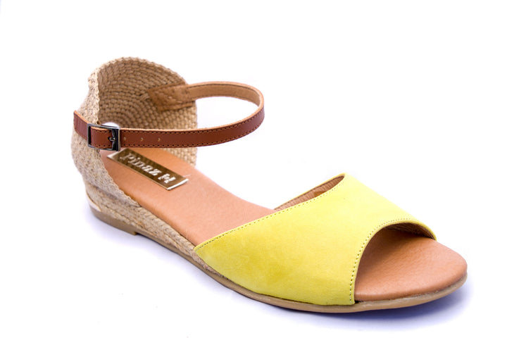 Pinaz Orion Lime Suede Espadrille Sandals - elevate your sole