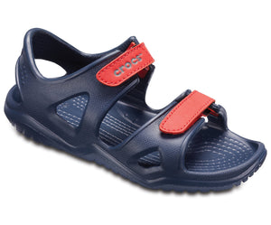Crocs 204988 Swiftwater River Kids Navy/Flame Sandals