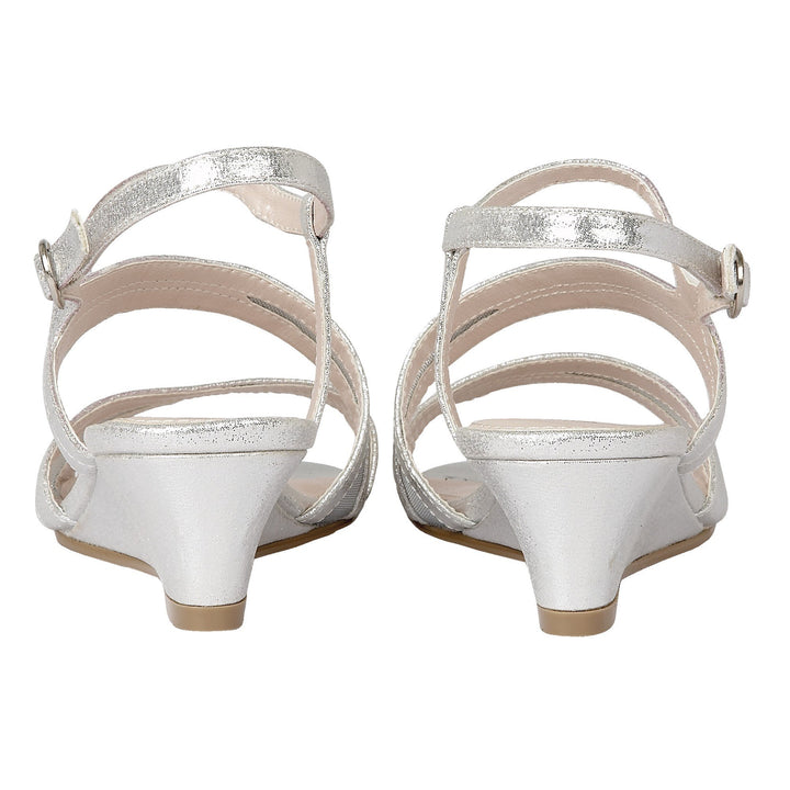 Lotus Desponia Silver Shimmer Evening Sandals - elevate your sole