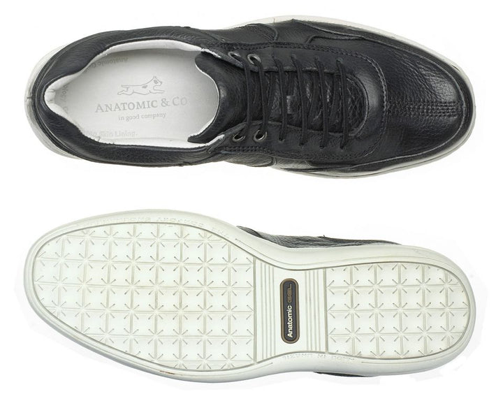 Anatomic Feliz Full Grain Black Leather Trainer Shoes - elevate your sole