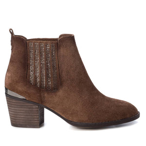 Carmela 66916 Camel Brown Suede Heeled Ankle Boots - elevate your sole