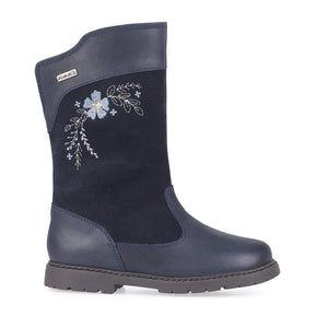 Start-Rite Splash 1730_9 Girls Navy Leather Suede Waterproof Calf Length Boot