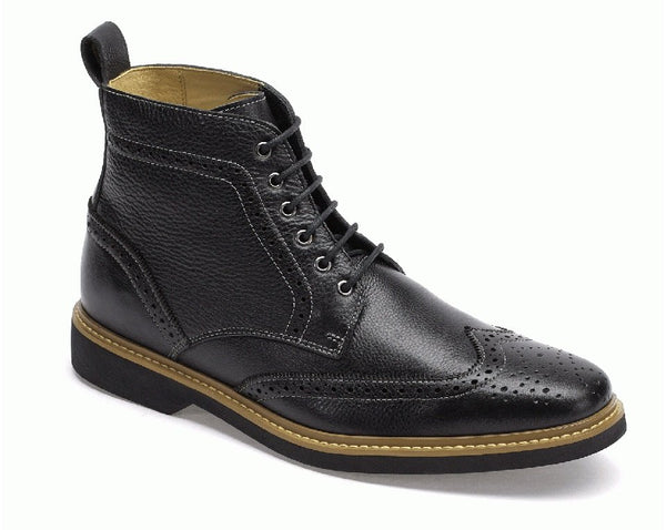 Anatomic Nova II Mens Black Leather Lace Up Boots