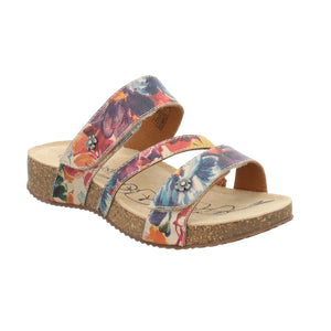 Josef Seibel Tonga 54 Beige Floral Tonga Slip On Sandals - elevate your sole