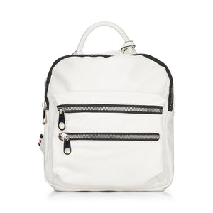 Remonte Q0509-80 White Leather Backpack