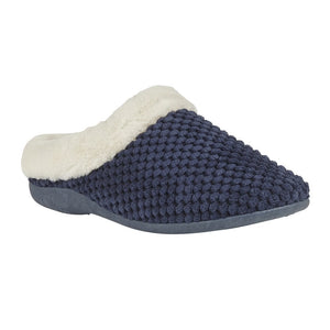 Lotus Lucy Ladies  Navy Mule Slipper