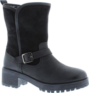 Adesso Anna A5084 Black Leather Mid Calf Boots - elevate your sole