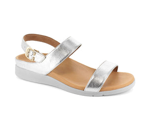 Strive Lucia Ladies Silver Leather Sling BackSandals