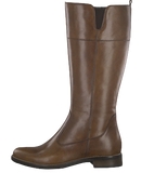 Tamaris 25542-23 Ladies Brown Leather Knee High Length Boots - elevate your sole