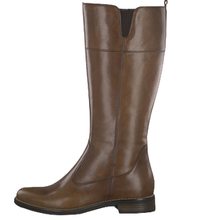 Tamaris 25542-23 Ladies Brown Leather Knee High Length Boots