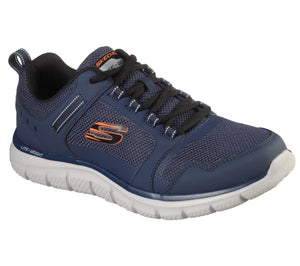 Skechers 232001 Track Knockhill Mens Navy Orange Lace Up Trainers