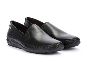Pikolinos 06H-5303 Black Leather Slip On Driving Shoes