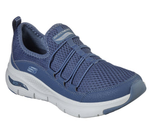 Skechers 149056 Arch Fit Lucky Thoughts Ladies Navy Blue Slip On Trainers