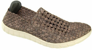 Adesso Jake A3355 Smoked Brown Mens Elasticated Shoes - elevate your sole