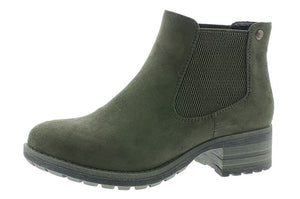 Rieker 96884-54 Green Faux Fur Lined Chelsea Boots - elevate your sole
