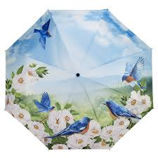 Galleria 33042 'Blue Birds' Folding Umbrella