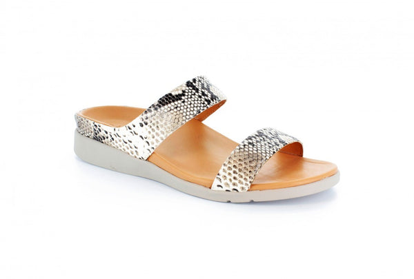 Strive Faro Snake Print Leather Sandals