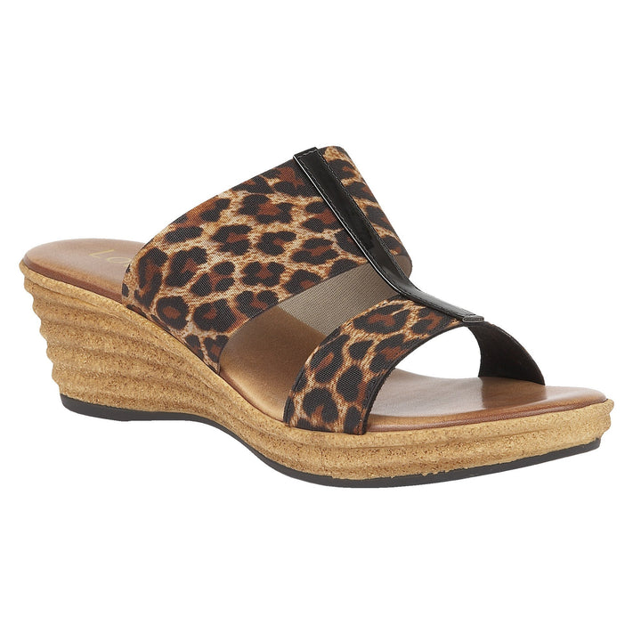 Lotus Vizza Leopard Elasticated Wedge Sandals - elevate your sole