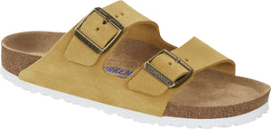 Birkenstock Arizona Soft Footbed Ladies Ochre/Yellow Suede Narrow Fitting Sandals