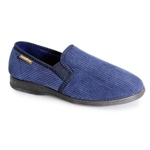 Good Year Humber Mens Navy Full Slipper