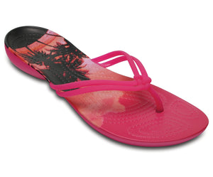 Crocs Isabella 204196-6JS Ladies Candy/Pink Toe Post Flip Flop