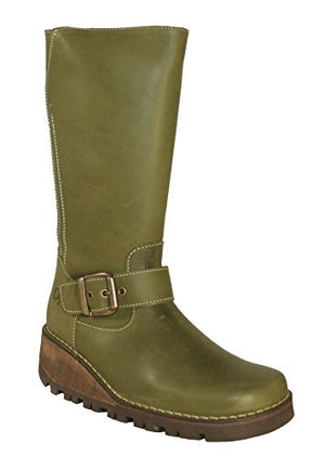 Oxygen Danube Waxy Khaki Mid Calf Boots - elevate your sole