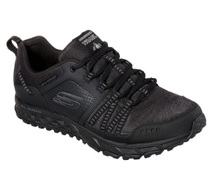 Skechers 51591 Escape Plan Black Leather Lace Up Trainers