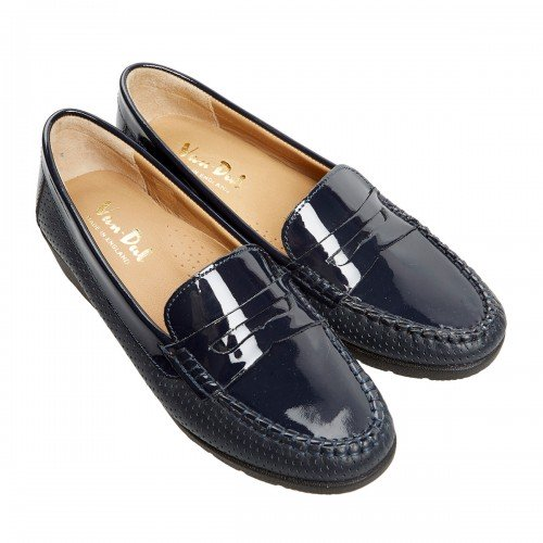 Van Dal Sheldon Midnight Navy Patent Leather Loafer Shoes