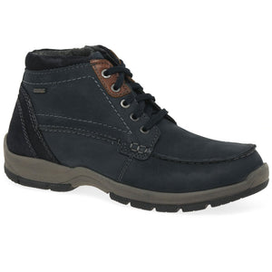 Josef Seibel Lenny 50 Ocean Kombi  Men's Top Dry Tex Nubuck Lace Up Side Zip Ankle Boots - elevate your sole