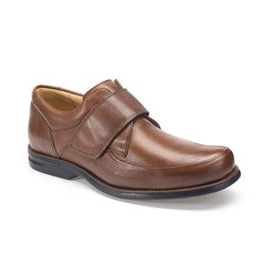 Anatomic Tapajos Mens Wide Fitting Tan Leather Touch Fastening Shoes